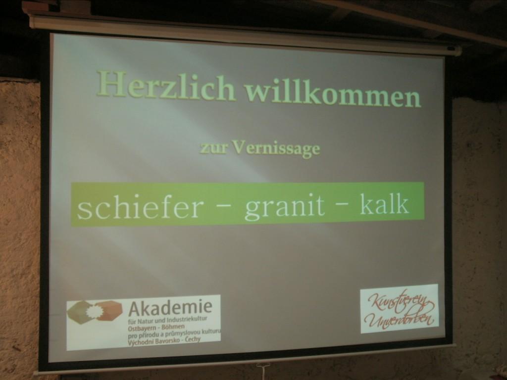 """Powerpoint-Präsentation zur Eröffnung der Ausstellung """"Begegnung 15 - Steine"""""""