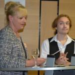 Beate Seifert stellt Jungkünstler Anton Alesik vor