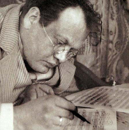 Komponist Max Reger (1873 - 1916) bei der Arbeit...