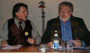 Die Rezitatoren: Karl Stumpfi (li.) & Wolfgang Huber.