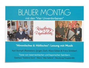 Der Blaue Montag '16 erfährt am 31. Januar in der Alten Seilerei eine Neuauflage.