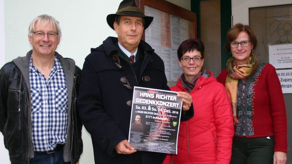 Die österreichische Gemeinde Kleinzell widmete Richter ein Gedenkkonzert zum 100. Todestag. Foto: Krizanic-Fallmann, Niederösterreichische Nachrichten