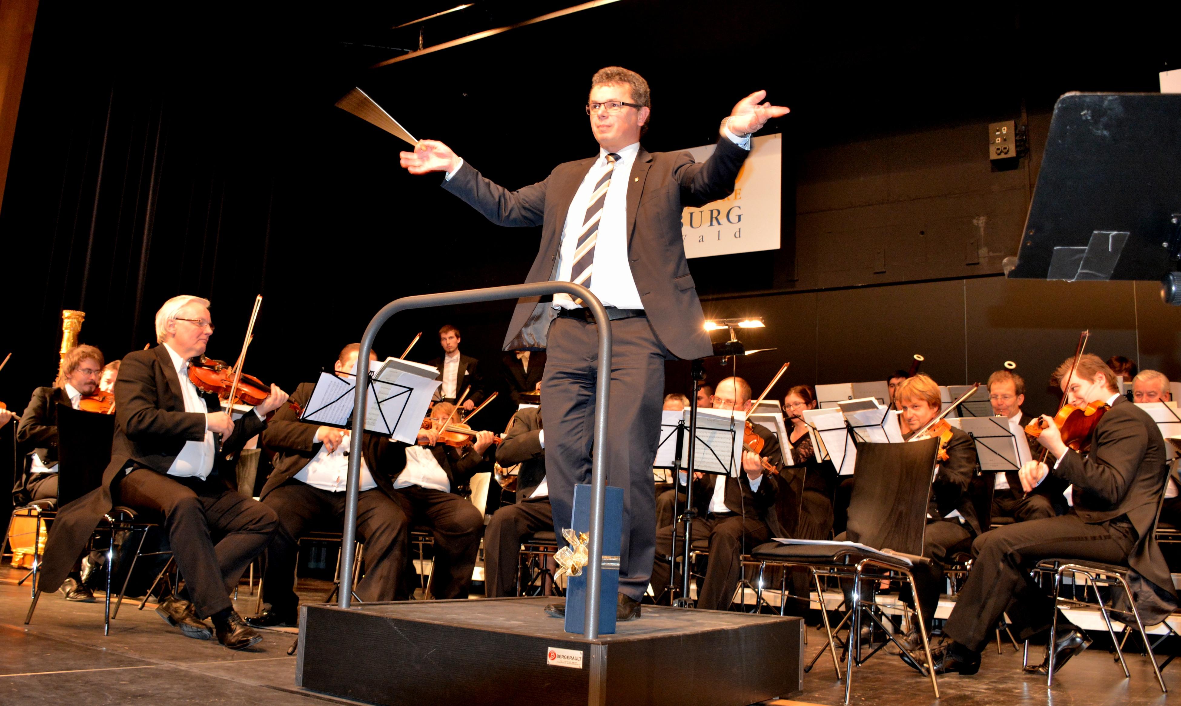 Birner den Taktstock von Maestro Hans Richter.