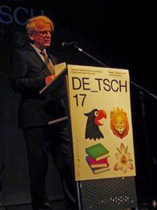 Grußworte bei der Feierstunde sprachen u. a. der Oberbürgermeister von Budweis Jiří Svoboda und der deutsche Botschafter in Prag Hansjörg Haber (Foto).