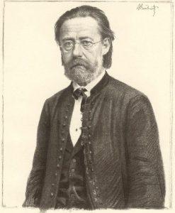 Der tschechische Komponist Bedrich Smetana (1834 - 1884)