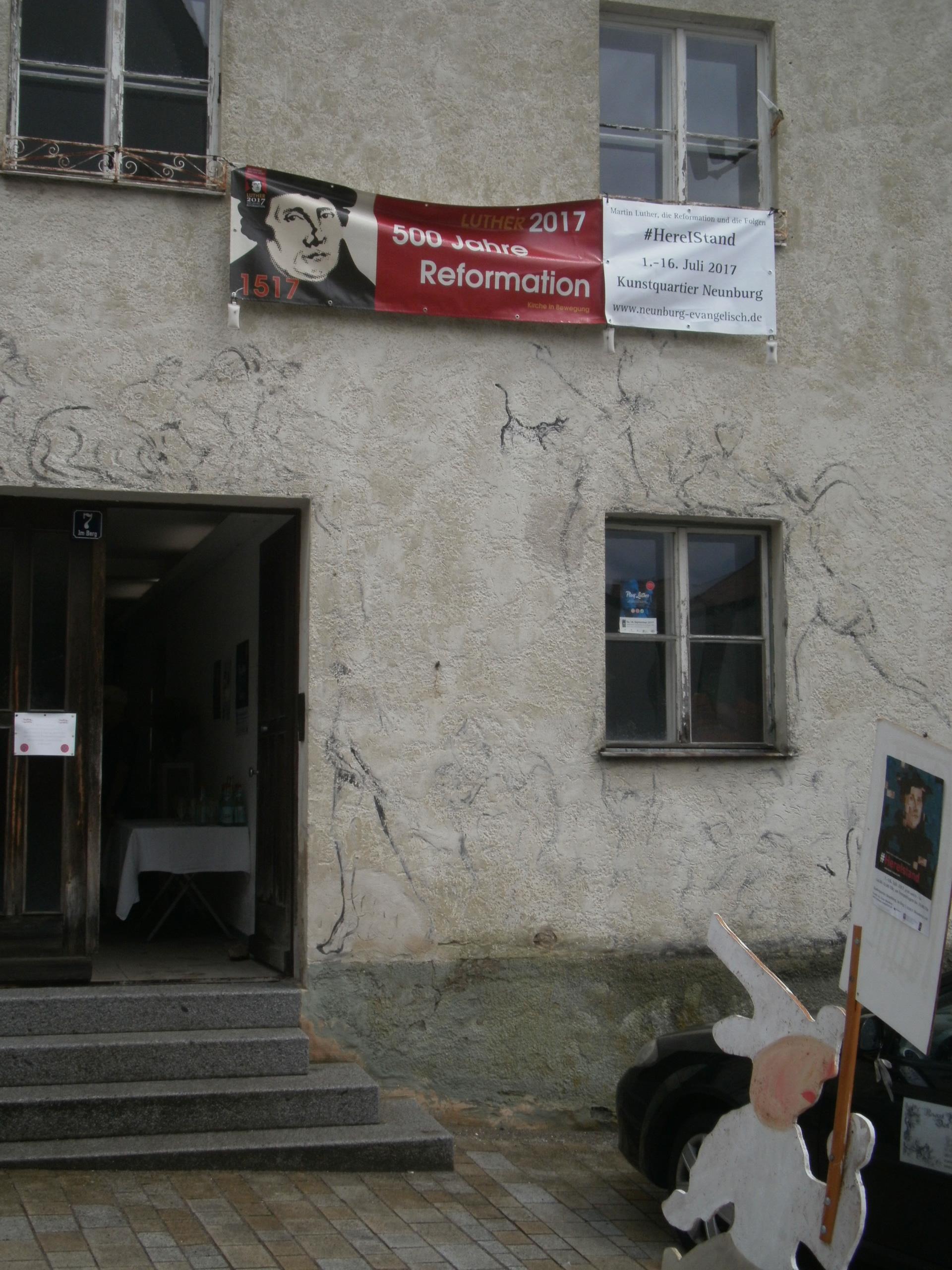 Martin-Luther-Ausstellung vom 1. bis 16. Juli im Neunburger Kunstquartier, Im Berg 7.
