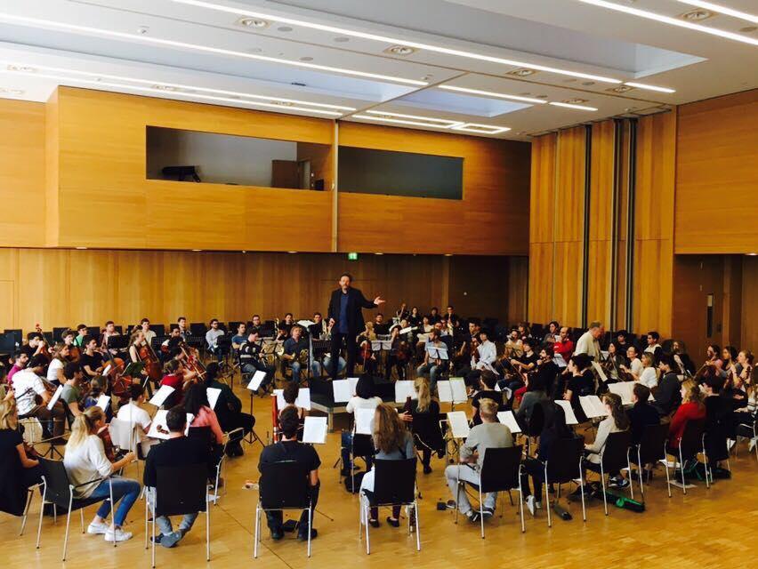 """Jugend-Orchesterworkshop """"Jahrtausendprobe"""" 30.9.17"""