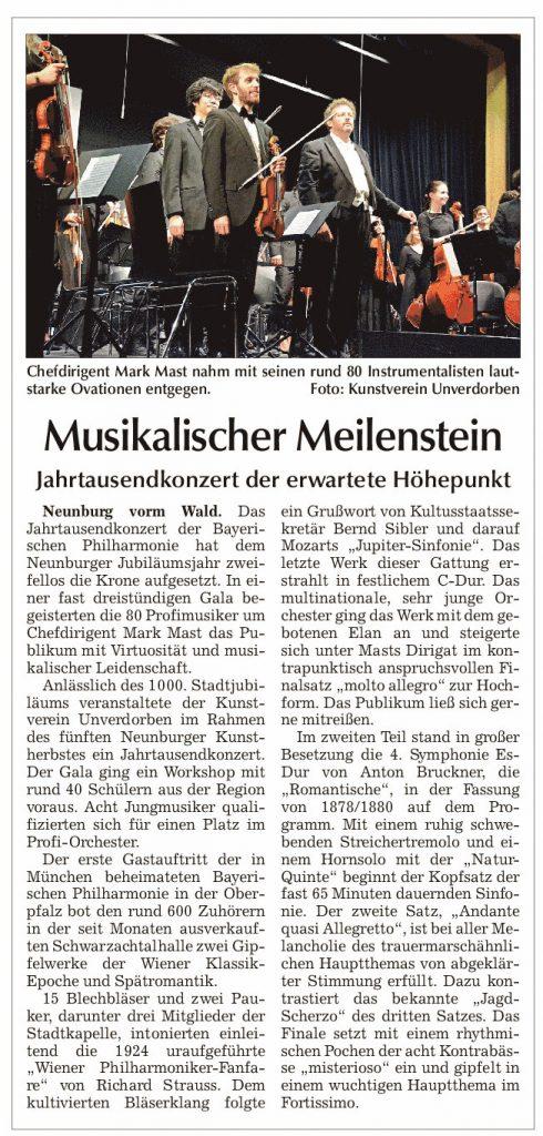 Chamer Zeitung JtdKonzert