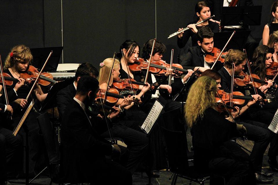 """Die Orchestermitglieder, vorwiegend der Altersklasse 20 bis 30 Jahre angehörend, überzeugten mit ihrer Interpretation von Mozarts """"Jupiter-Sinfonie"""". Foto: T. Kraus"""