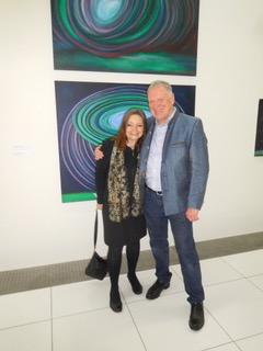 Treffen mit der Prager Künstlerin Jitka Stenclova.