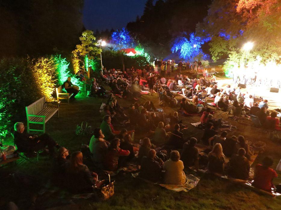 Stimmungsvolle Beleuchtung verlieh dem Openair-Konzert ein besonderes Flair. Foto: Wolfgang Gräßl