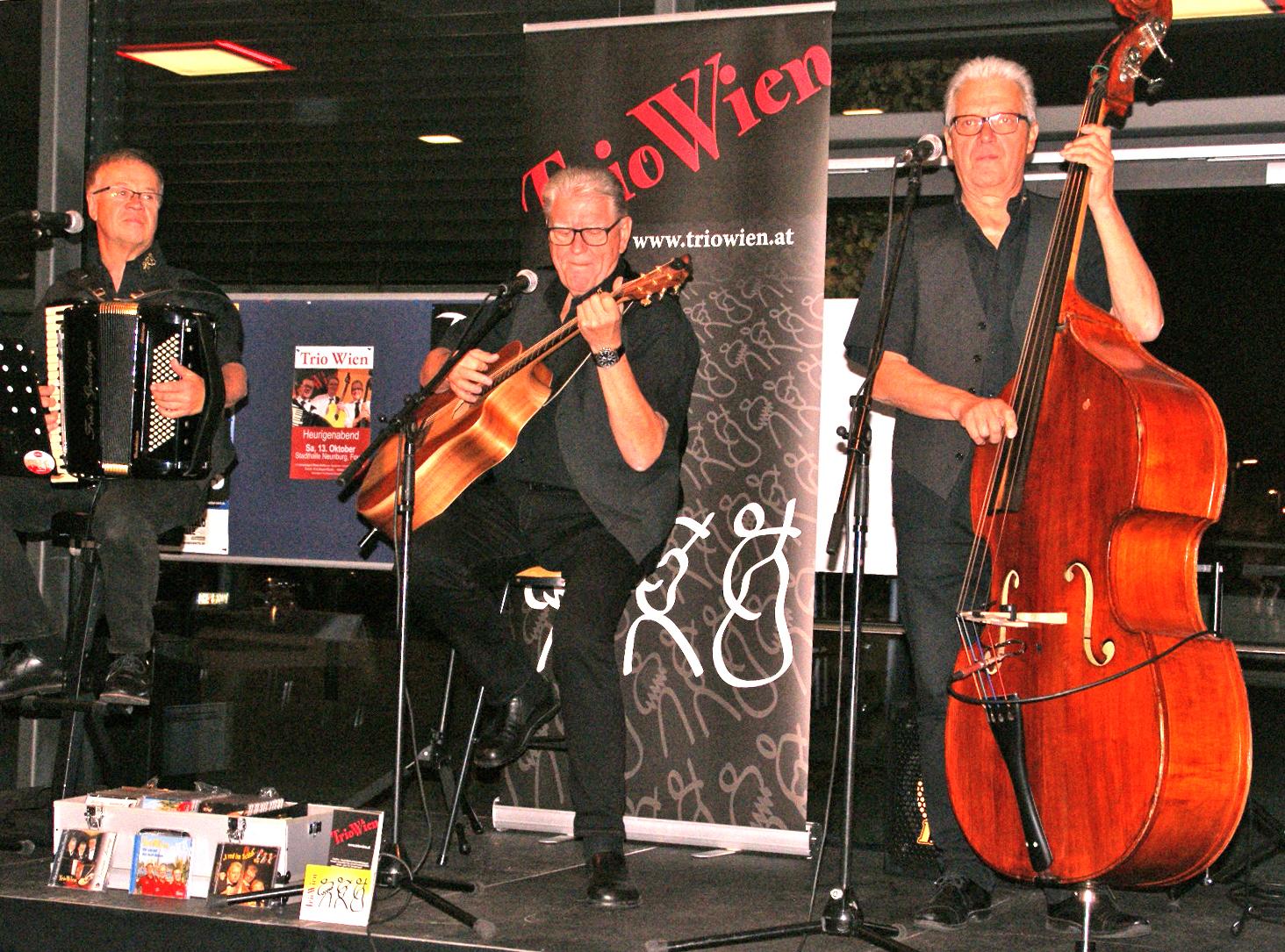 Das Trio Wien lieferte im Foyer der Schwarzachtalhalle überzeugendes musikalisches Entertainment. Fotos: Alfred Grassmann
