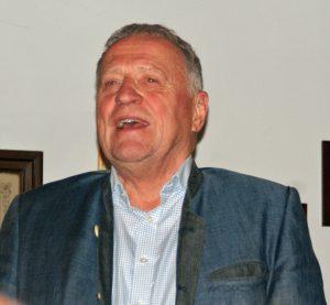 Begrüßung der Göste durch den 1. Vorsitzenden Peter Wunder.