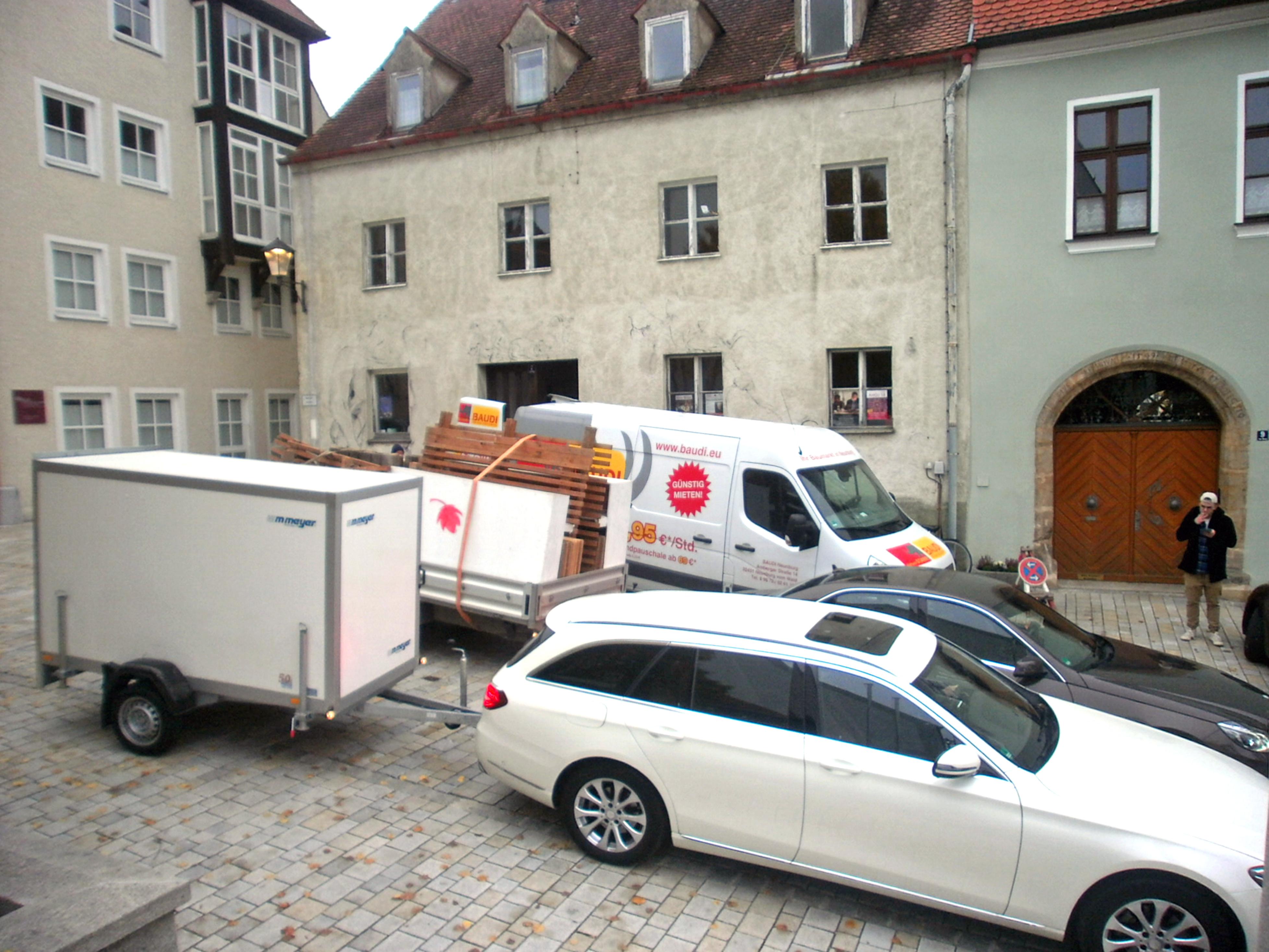 Nach Räumung des alten Kunstquartiers Im Berg Nr. 7 am 10. November 2018 ist der KVU zurzeit auf der Suche nach einem neuen Domizil. Foto: Karl Stumpfi