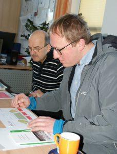 Florian Baueregger (r.) und Presseverteter Georg Lang bei der Programm-Vorstellung.