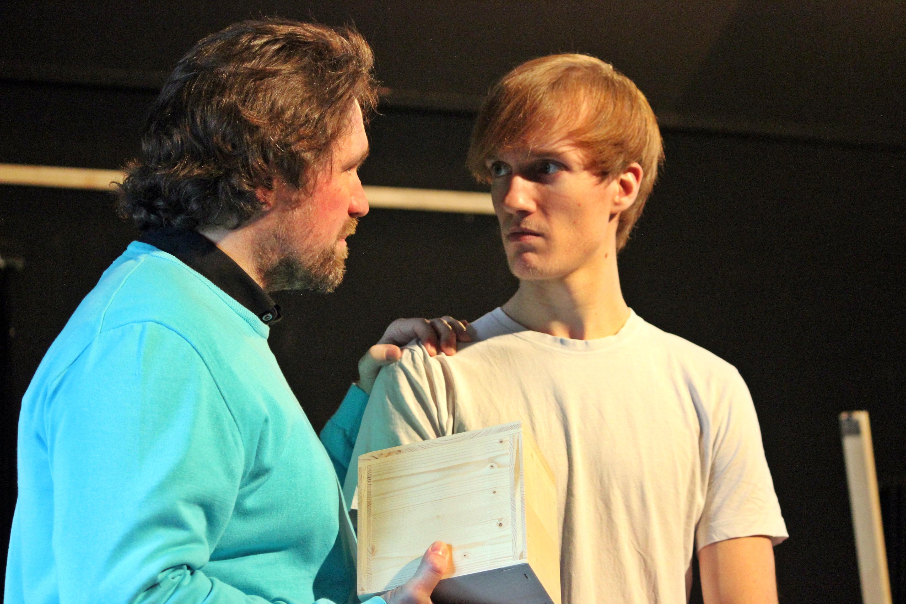"""Die Probenarbeit für """"A Clockwork Orange"""" befinden sich in der Endphase, Premiere ist Anfang Mai. Foto: Florian Wein"""
