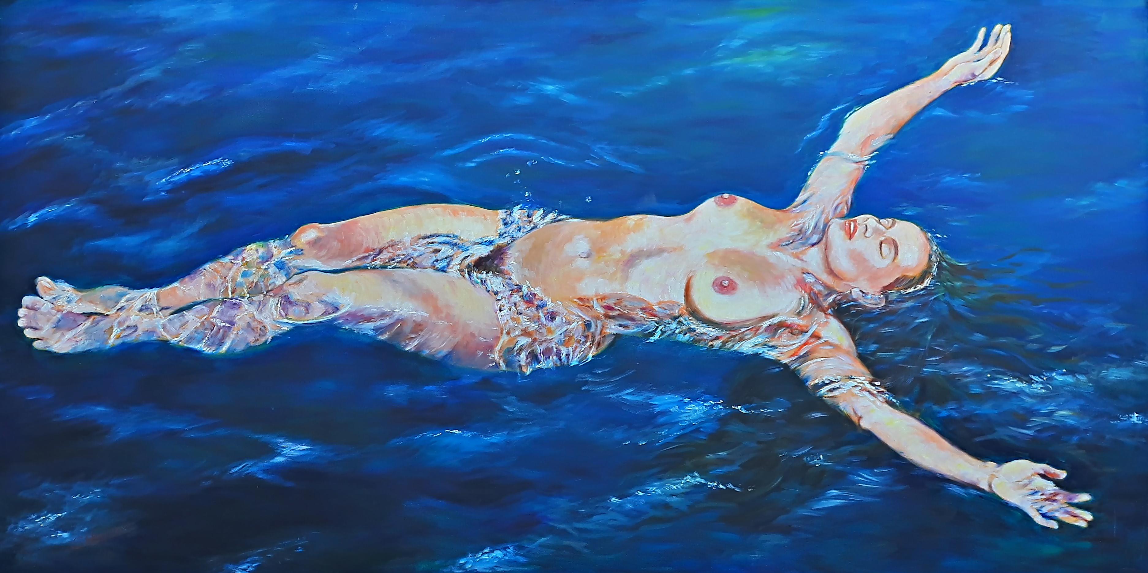 Susanne Heinrich: EINS MIT MIR Öl/Lw., 100 x 200 cm