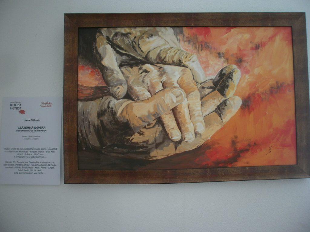 """In der Alten Fronfeste ausgestellt: """"Gegenseitiges Vertrauen"""" von Jana Sitková, Budweis."""